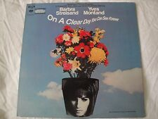 "Barbra Streisand & Yves Montand ""ON A CLEAR DAY YOU CAN SEE FOREVER"" VINYL LP"