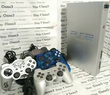 SONY PS2 playstation II SCPH-50004 CONSOLE SILVER LINE + 04 CONTROLLER