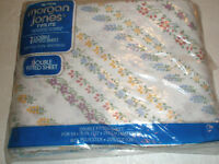 Vintage MORGAN JONES TWILITE Full Size Fitted Sheet No Iron Floral