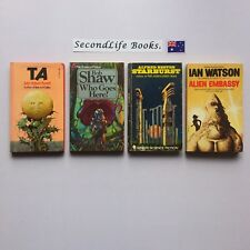 x4 OLD SCI FI BOOKS ~ Bester Watson Shaw Russell. Book Lot.