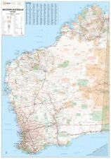(LAMINATED) SUPER MAP OF WESTERN AUSTRALIA STATE GIANT POSTER (100x140cm) WALL