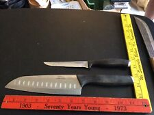 """Calphalon Forged 8"""" santoku Chef Knife & filet Knife. German Steel Made in China"""