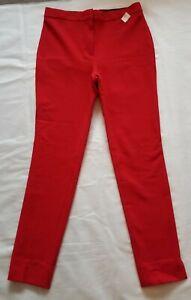 New w/Tags Ann Taylor Loft Women 4T Tall Red Modern Skinny Pants