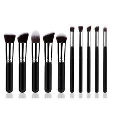 10Pcs Cosmetic Foundation Blending Buffing Contour Concealer Makeup Brush Powder