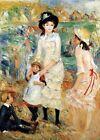 "Auguste Renoir CANVAS PRINT Children on The Sea shore Art poster 24""X18"""