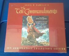 The Ten Commandments  VHS 35th Anniversary Collector's Ed Wide Screen NEW Sealed