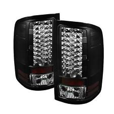 FITS 07.5-14 GMC SIERRA SPYDER BLACK LED TAIL LIGHTS..