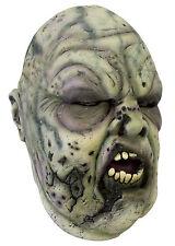 Battle Merchant Zombie Maske Grau/Grün Fasching Halloween LARP Gummimaske