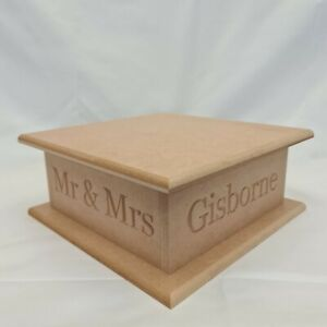 Wedding Cake Stand - MDF Plain - Personalised Party Decor - Wooden Display Stand