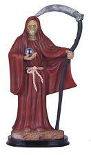 """12"""" Red Santa Muerte Statue Holy Death Grim Reaper Santisima Skull Figurine"""