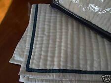Ralph Lauren Home Quilted Ivory Silk Std Pillow Shams - Rare