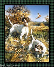 """Springs ~ Point North - BIRD DOGS Pointers ~ 36"""" Quilt Panel 100% Cotton Fabric"""