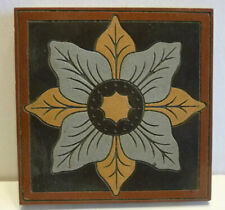 "Ornate Victorian architectural tile, Maw & Co Benthall Works, encaustic, 6"" x 6"""