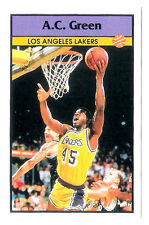 A.C.Green 1992-93 Los Angeles Lakers Basketball Italian Panni Sticker card
