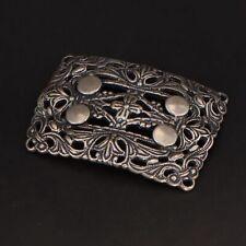 VTG Sterling Silver - STEVE STAMAS Ornate Filigree Dogwood Brooch Pin - 14.5g