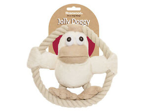 Rosewood Riverside Duck Dog Toy | Jolly Moggy Rope Natural Animal Tug Soft Plush