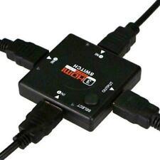 3 Port HDMI Splitter Switch Hub AUTO Switcher Selector Box HDTV 2160P V1.4 USA