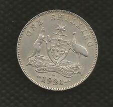 1921 STAR SHILLING - GEORGE V - VERY FINE CONDITION - KEY DATE - RARE
