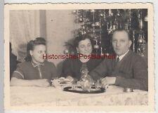 (F11216) Orig. Foto Familie Bager Weihnachten zu Hause 1941, Wohnung in Köln