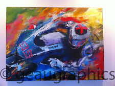 JORGE LORENZO 2015 MOTO GP Champion Large Original Painting Signed by Jorge