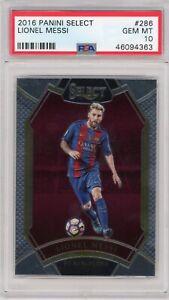 2016-17 Panini Select Lionel Messi Field Level FC Barcelona No.286 PSA 10 SP