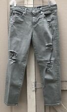 AG adriano goldschmied Ex-Boyfriend Slim Jeans Light Olive Color Size 31