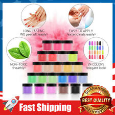 24 Colors Acrylic Powder Set for Nail Art 3D Diy Tips Decoration for Girl Woman