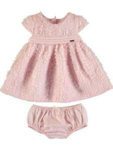Mayoral baby girls summer tulle petals dress and panties (1873)