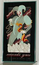1985 Official Mardi Gras Poster RARE by Hugh Ricks Signed and Numbered by Artist