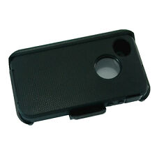 Black For Apple iPhone 4/4s Defender Case Cover with (Belt Clip Fits Otterbox)