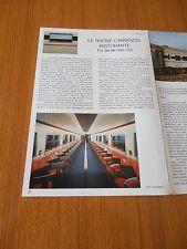 1977 NUOVE CARROZZE RISTORANTE FS 88 98 100 119 DATI TECNICI CARRELLI TRENO