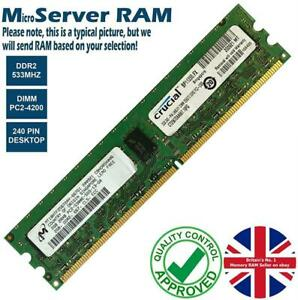 1GB 2GB Memory RAM 4 Micro Servers PC2-4200E DDR2 533MHz 240 ECC Unbuffered Lot