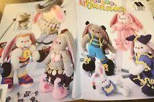 "Annie's Attic Crochet Pattern 878401 Sugar Bunnies 13.5"" tall"