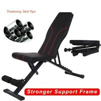 Adjustable Weight Bench Incline Decline Foldable Full Body Workout Training Gym