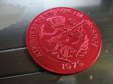 elvis presley tribute to the king 1979 new orleans mardi gras doubloon guitar
