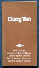 Owner's Manual * Betriebsanleitung 1979 Chevrolet Chevy Van (USA)