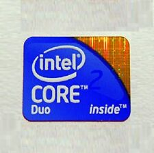 Intel Core 2 Duo Inside Sticker 20mmx17mm Approx Chrome vinyl