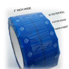 "Tamper Evident Blue Heavy Duty Packing Carton Sealing Tape 2"" x  55 YDS  50mm"