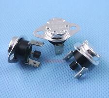 2pcs Manual Reset Temperature Switch 130 °C NC Bimetal disc thermostat KSD301