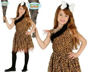 Childs Cavewoman Fancy Dress Costume Kids Girls Cavegirl Cave girl Outfit fg