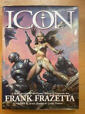 New listing Icon : A Retrospective Fantastic Art Frank Frazetta 1998 1st print Hardcover EX
