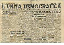 L'UNITA' DEMOCRATICA 21 MAGGIO 1946