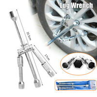 "1PC Lug Wrench 4 Way Foldable Cross Wrench 11/16"" 3/4"" 13/16"" 7/8"" Socket Drive"