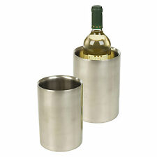 Brushed Stainless Steel Wine Drink Champagne Bottle Ice Double Wall Cooler Party
