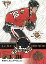 02-03 PRIVATE STOCK TITANIUM GAME JERSEY MARK BELL 241/957 BLACKHAWKS *19889