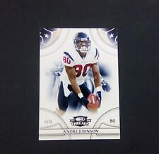 Football cards Andre Johnson  2007 stats Threads card No 53 in series