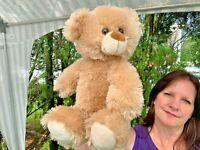 "VINTAGE Progressive Plush Tan Cream Teddy Bear Lovey 12"" SOFT Stuffed Animal Toy"