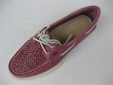 Sperry Topsider Womens Shoes NEW $95 A/O Villa Perf Pink Leather Boat 6.5 M
