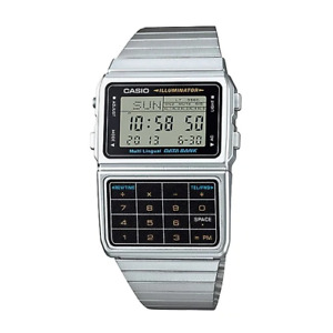 Casio DBC-611-1DF Silver Stainless Calculator Watch for Men and Women