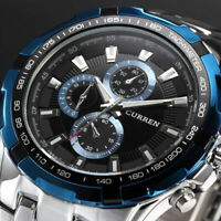 CURREN Men Fashion Military Army Stainless Steel Analog Quartz Sport Wrist Watch